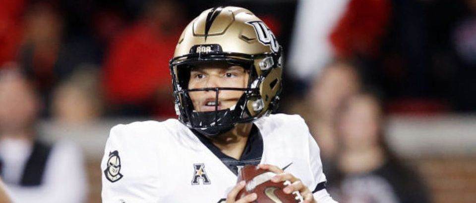 CINCINNATI, OH - OCTOBER 04: Dillon Gabriel #11 of the Central Florida Knights looks to pass in the first quarter against the Cincinnati Bearcats at Nippert Stadium on October 4, 2019 in Cincinnati, Ohio. (Photo by Joe Robbins/Getty Images)