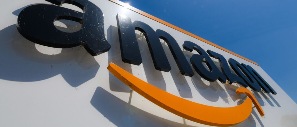 FRANCE-US-ECONOMY-RETAIL-INTERNET-COMPANY-AMAZON-LOGO