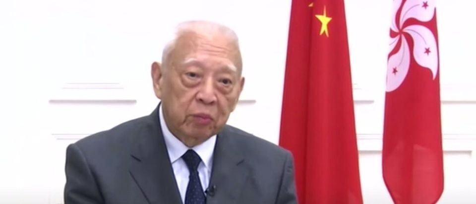 Tung Chee-hwa speaks with China Global Television Network (YouTube screen capture/CGTN)