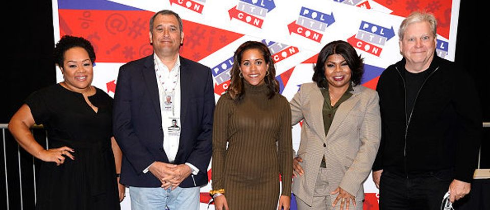 Alexi McCammond (center) at Politicon 2019 (Photo by Ed Rode:Getty Images for Politicon)