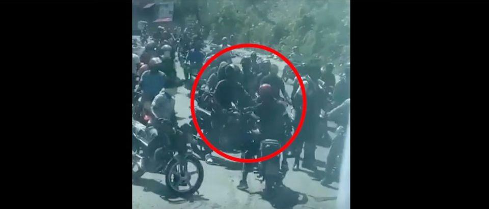 Belize National Soccer Team (Credit: Screenshot/TMZ Video https://www.tmz.com/2021/03/23/belize-soccer-team-haiti-gunmen-armed-insurgents-video-guns/)