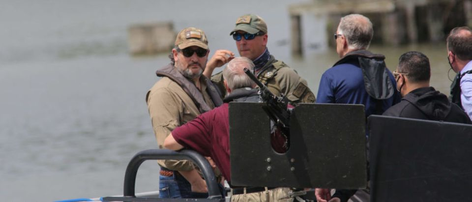 Ted Cruz on a boat tour of the Rio Grande amid the border crisis. Photo Credit: KAYLEE GREENLEE/DCNF