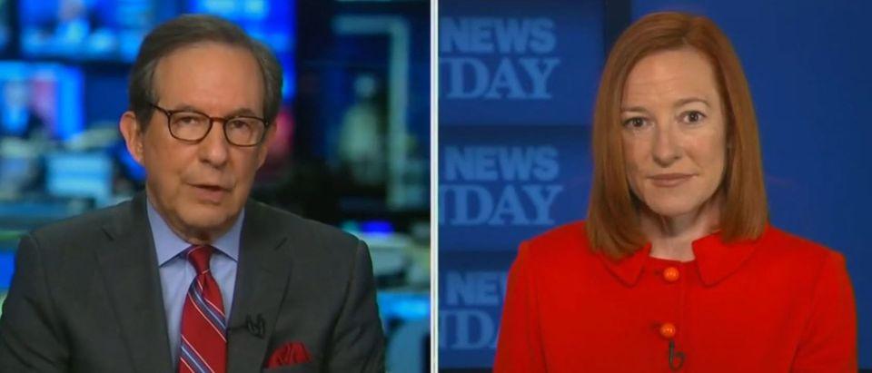 Chris Wallace presses Psaki on border facility access (Fox News screengrab)
