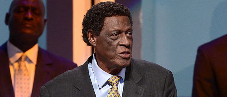 Sports CENTURY CITY, CA - MAY 19: Former NBA player Elgin Baylor speaks onstage at the 28th Anniversary Sports Spectacular Gala at the Hyatt Regency Century Plaza on May 19, 2013 in Century City, California.. (Photo by Kevin Winter/Getty Images for Sports Spectacular) 2013 - Inside