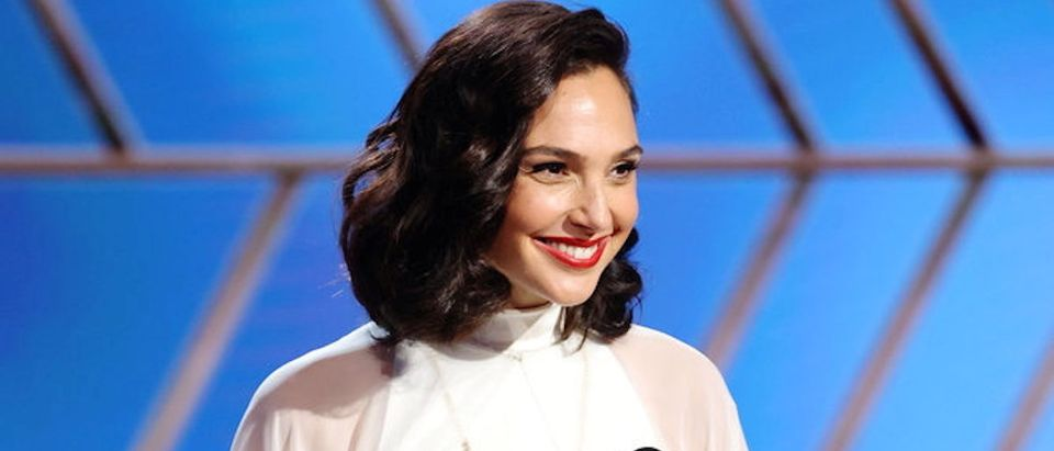 Gal Gadot in this handout photo from the 78th Annual Golden Globe Awards in Beverly Hills