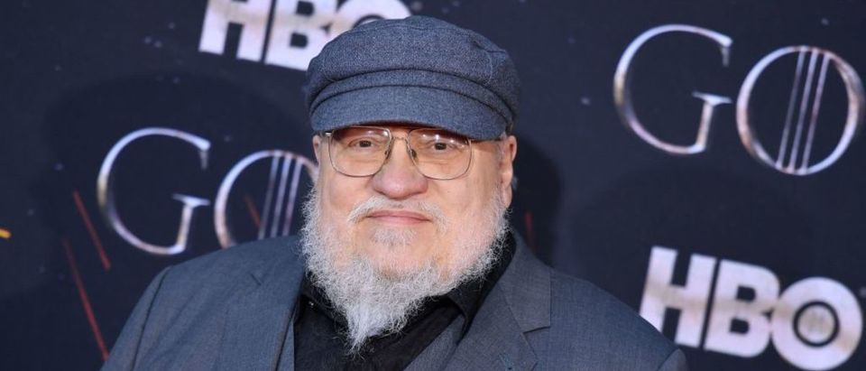 """US novelist George R. R. Martin arrives for the """"Game of Thrones"""" eighth and final season premiere at Radio City Music Hall on April 3, 2019 in New York city. (Photo by Angela Weiss/AFP/Getty Images)"""