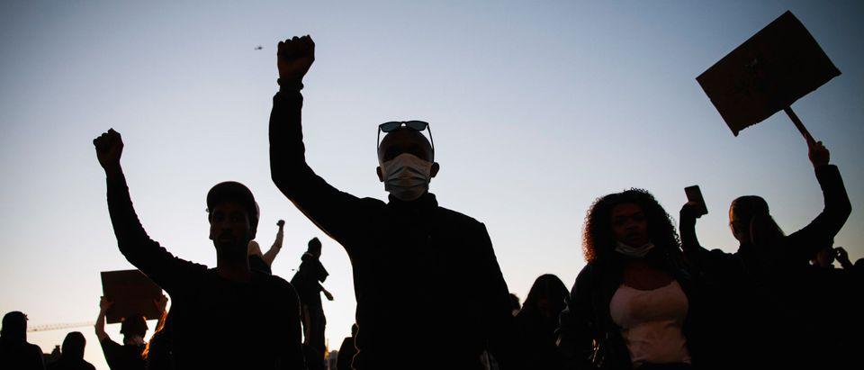 TOPSHOT SWEDEN US POLITICS RACE PROTEST demonstration racism pol