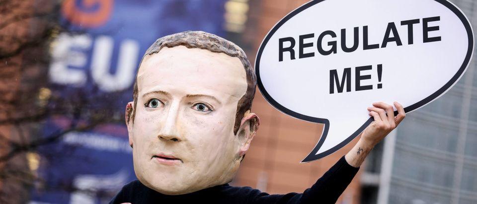 Mark Zuckerberg Head Protestor