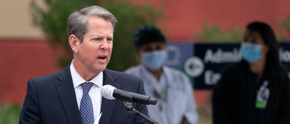 Georgia Gov. Kemp Visits Chatham County Health Department As First COVID Vaccinations Are Administered