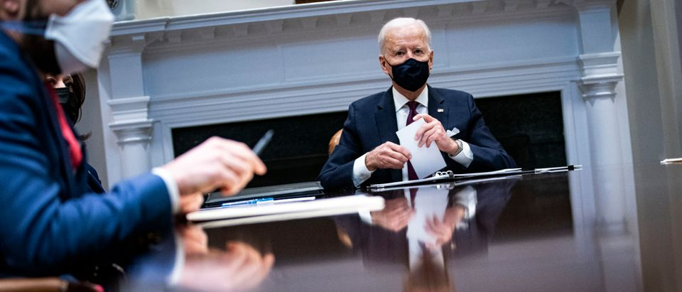 President Biden Receives Economic Briefing From Treasury Secretary