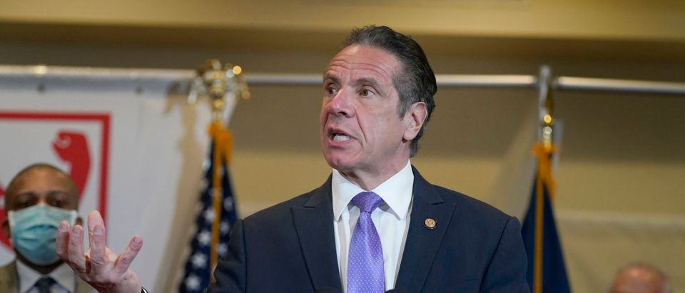 Governor Cuomo Speaks On State's Vaccination Efforts At Grace Baptist Church