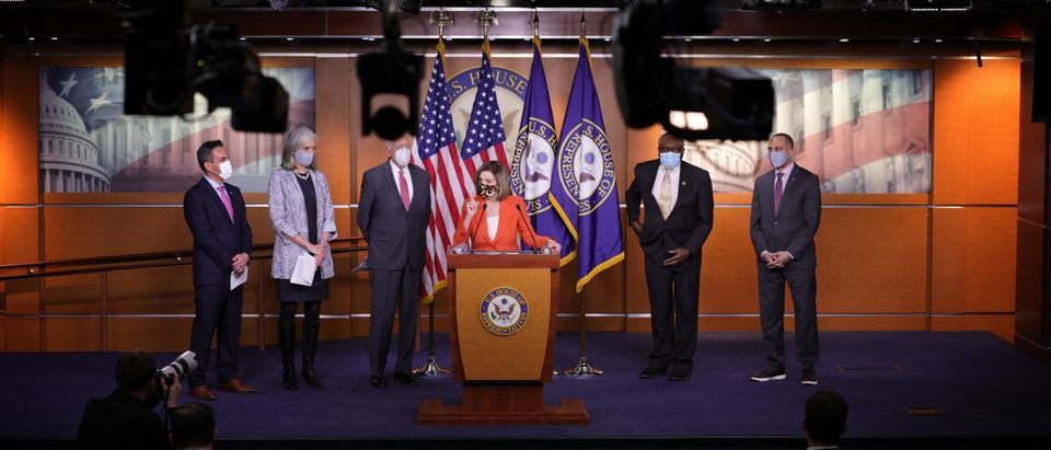 House Leaders Nancy Pelosi And Hakeem Jefferies Hold Media Availability