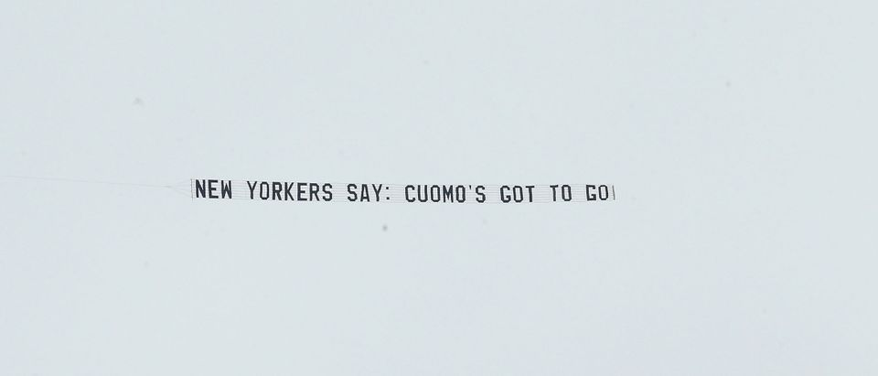 """Plane Banner Reading """"New Yorkers Say: Cuomo's Got To Go!"""" Flies Over NY State Capitol As Allegations Of Sexual Harassment & Misconduct Mount Against Andrew Cuomo"""