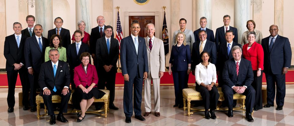 Official Photo Of Obama And His Cabinet