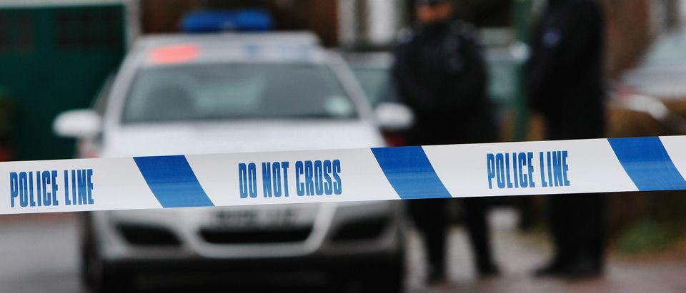 Police tape surrounding a crime scene