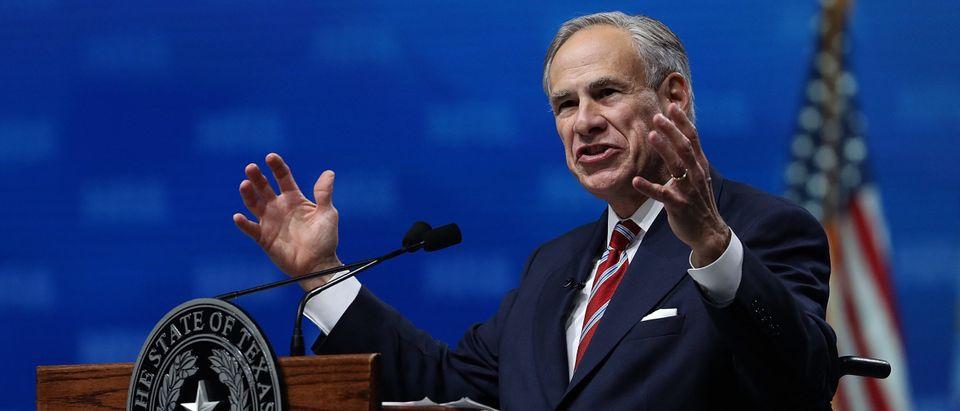 Texas Gov. Greg Abbott speaks at the NRA-ILA Leadership Forum