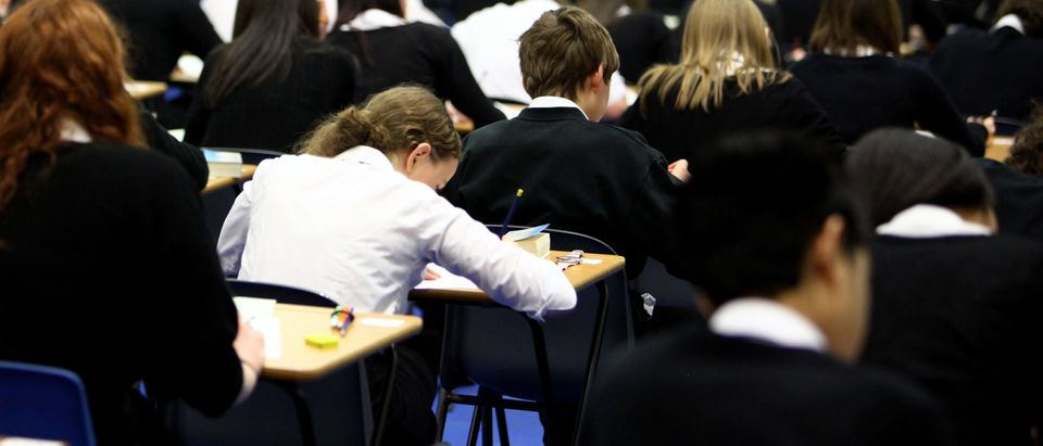 Pupils at Williamwood High School sit prelim exams on February 5, 2010 in Glasgow, Scotland As the UK gears up for one of the most hotly contested general elections in recent history it is expected that that the economy, immigration, the NHS and education are likely to form the basis of many of the debates. (Photo by Jeff J Mitchell/Getty Images)