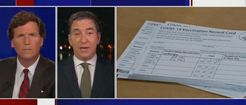 Glenn Greenwald rips vaccine passport proposal (Fox News screengrab)