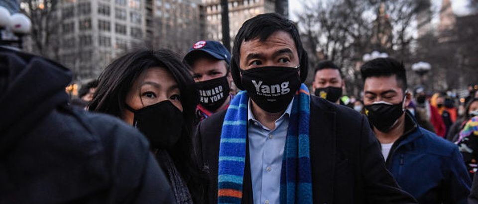 New York City Mayoral candidate Andrew Yang in New York City (Stephanie Keith/Getty Images)