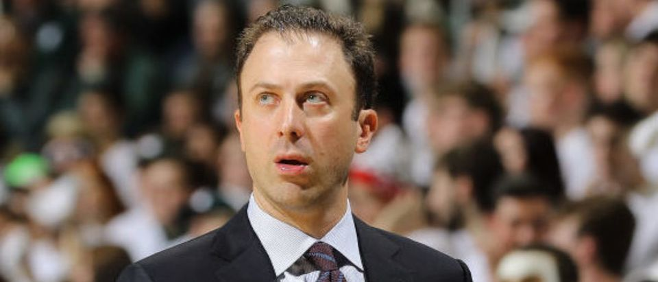 EAST LANSING, MI - JANUARY 09: Head coach Richard Pitino of the Minnesota Golden Gophers looks on during the first half against the Michigan State Spartans at the Breslin Center on January 9, 2020 in East Lansing, Michigan. (Photo by Rey Del Rio/Getty Images)