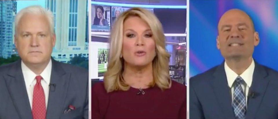 Matt Schlapp, Martha MacCallum, and Chris Hahn (Screenshot/Fox News)