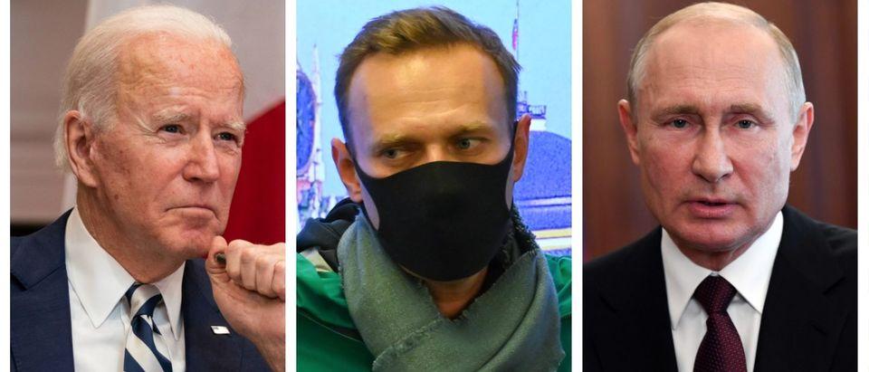 Joe Biden, Alexei Navalny, Vladimir Putin (Getty Images)