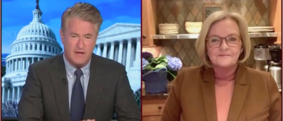 Joe Scarborough and Claire McCaskill (Screenshot/MSNBC)