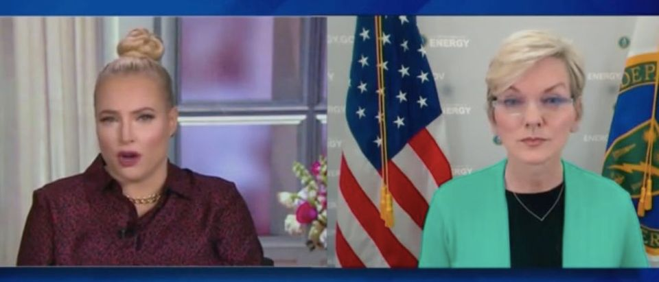 "Meghan McCain and Energy Sec. Jennifer Granholm appear on ""The View."" Screenshot/ABC"