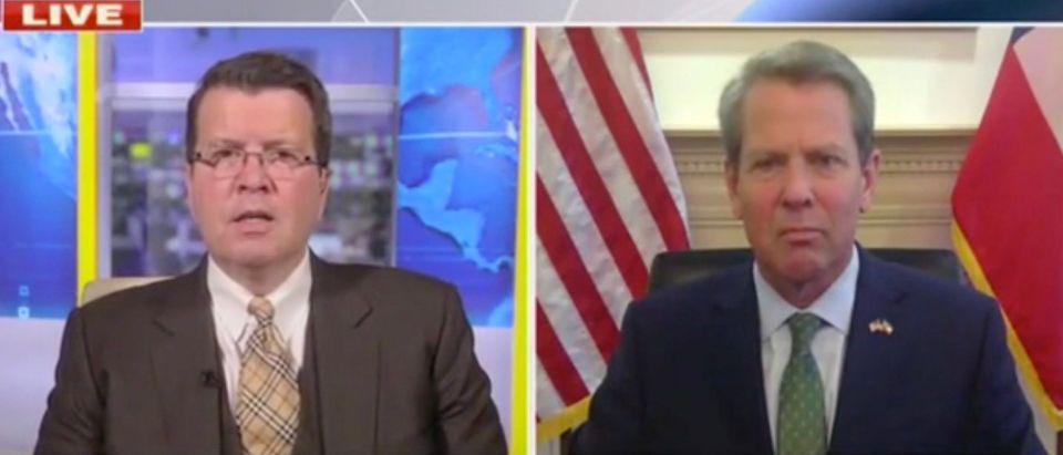 Neil Cavuto and Gov. Brian Kemp (Screenshot/Fox News)