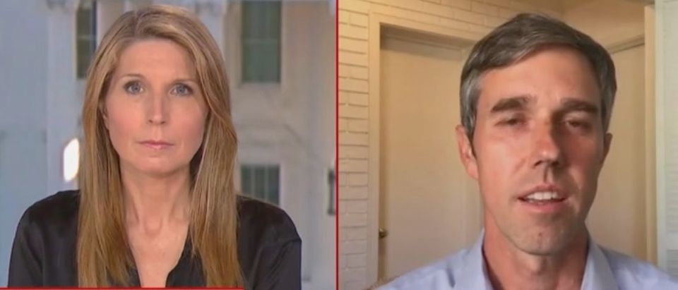 """Nicolle Wallace and Beto O'Rourke appear on """"Deadline: White House."""" Screenshot/MSNBC"""
