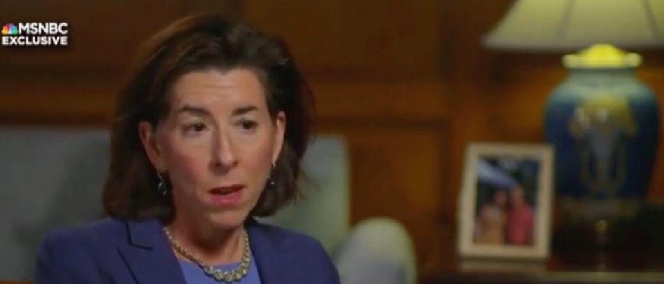 Sec. Gina Raimondo (Screenshot/MSNBC)