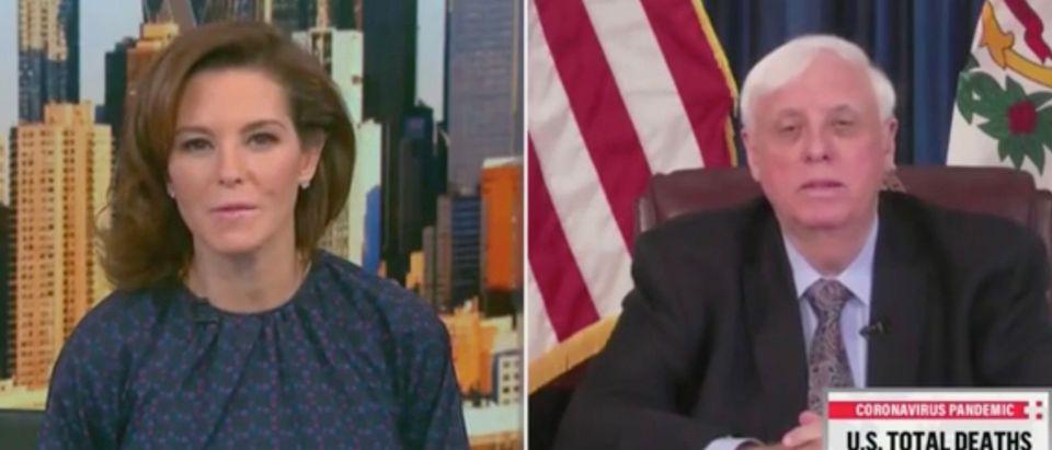 Stephanie Ruhle and Gov. Jim Justice (Screenshot/MSNBC)