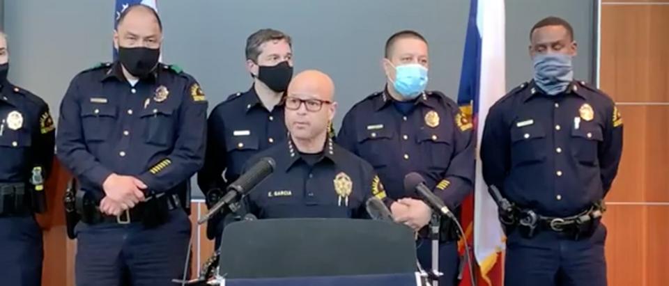 Dallas Police Department discussing the arrest of officer Bryan Riser [Facebook/Screenshot/Public User Dallas Police Department]