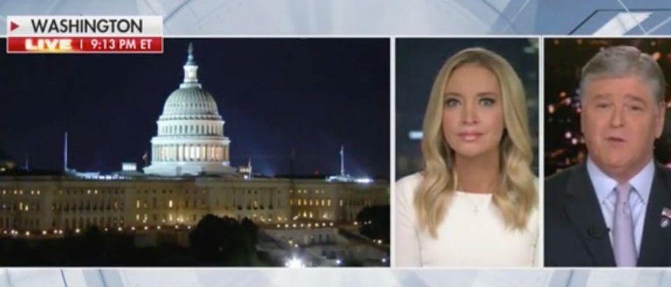 Kayleigh McEnany and Sean Hannity (Screenshot/Fox News)