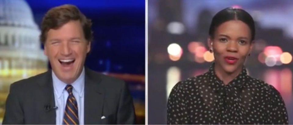 Tucker Carlson and Candace Owens (Screenshot/Fox News)