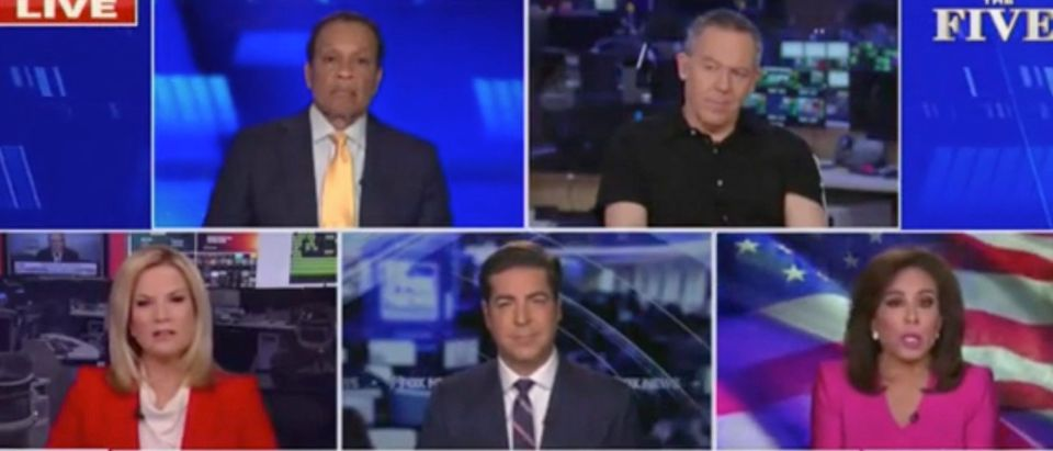 Juan Williams, Greg Gutfeld, Martha MacCallum, Jesse Watters, Jeanine Pirro (Screenshot/Fox News)