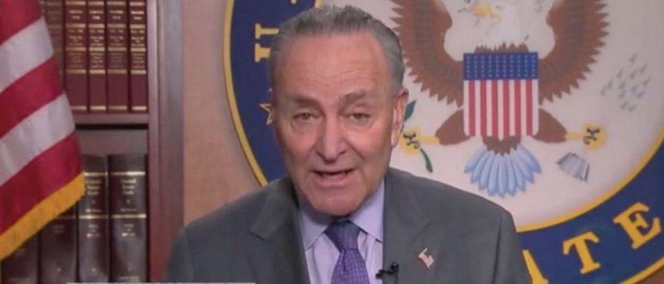 "Senate Majority Leader Chuck Schumer appears on ""The View."" Screenshot/ABC"
