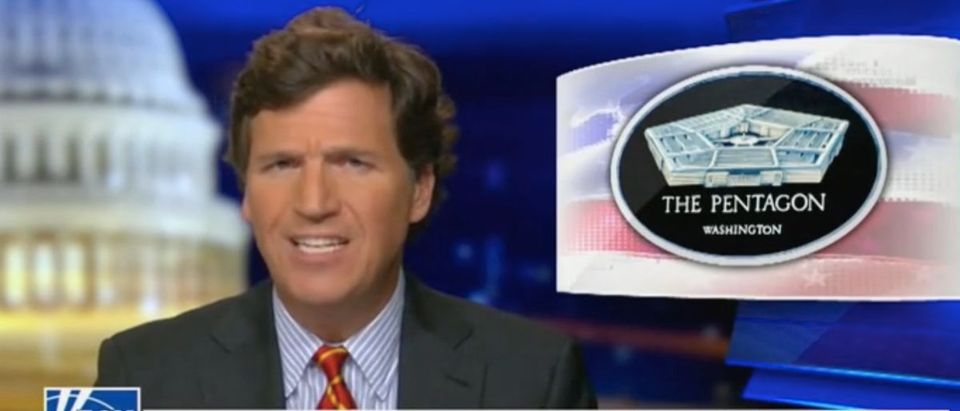 Tucker Carlson addresses changes in the military. Screenshot/Fox News