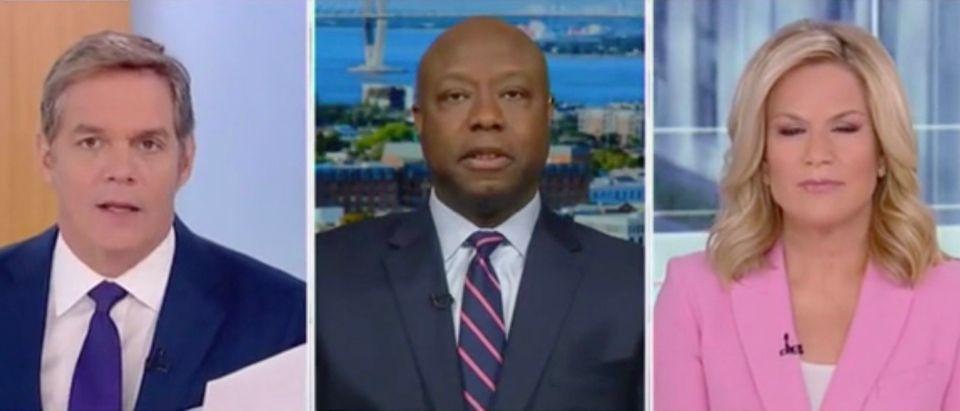 Bill Hemmer, Sen. Tim Scott, and Martha MacCallum (Screenshot/Fox News)