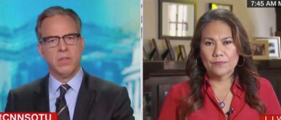 Jake Tapper and Rep. Veronica Escobar (Screenshot/CNN)