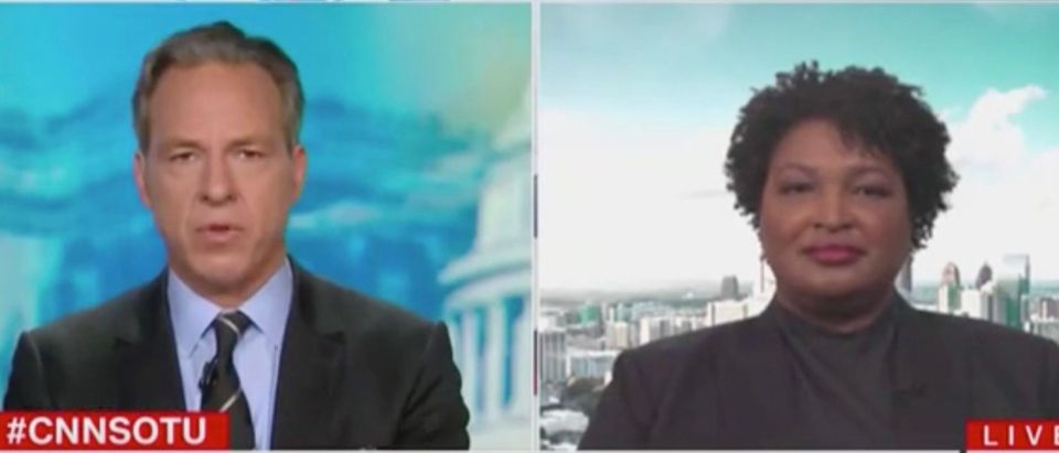Jake Tapper And Stacey Abrams (Screenshot/CNN)