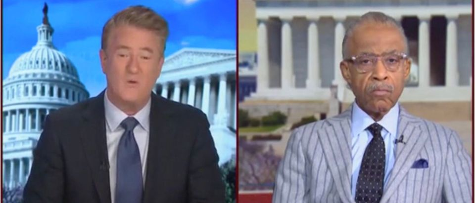 Joe Scarborough and Al Sharpton (Screenshot/MSNBC)