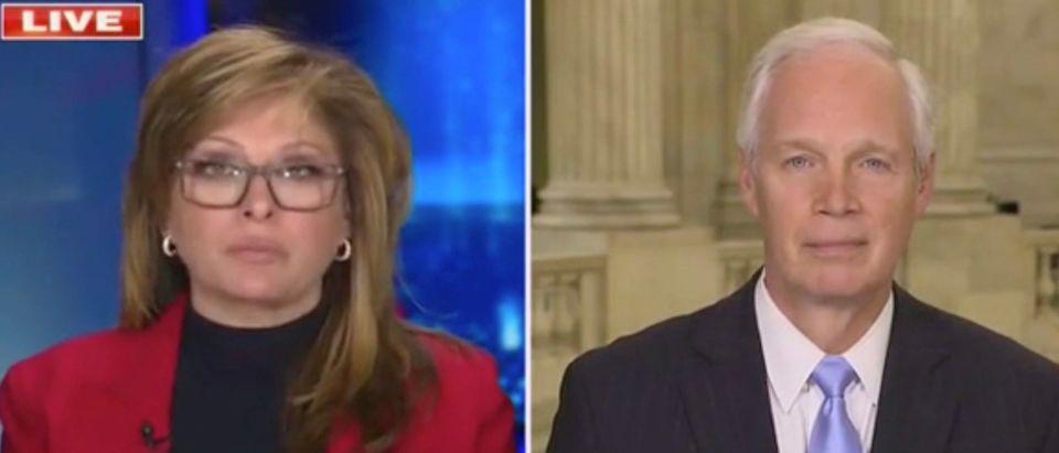 Maria Bartiromo and Sen. Ron Johnson (Screenshot/Fox News)