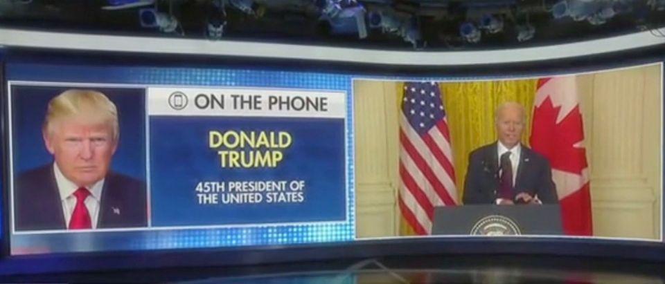 Donald Trump joins Maria Bartiromo by phone (Screenshot/Fox News)