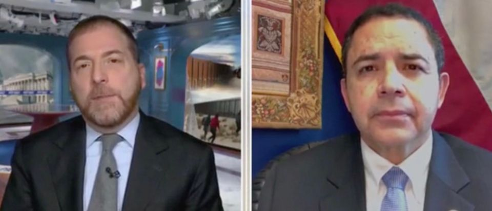 Chuck Todd and Rep. Henry Cuellar (Screenshot/MSNBC)