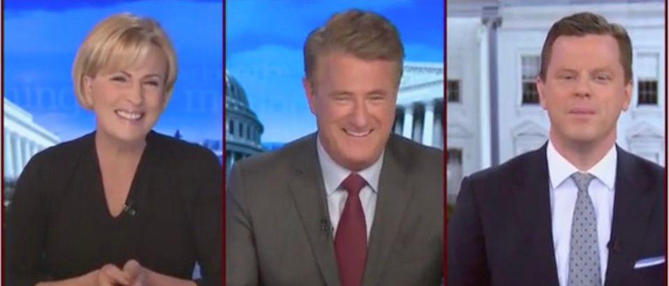 Mika Brzezinski, Joe Scarborough, and Willie Geist (Screenshot/MSNBC)