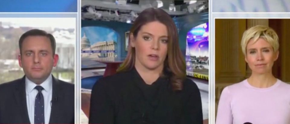 Mike Memoli, Kasie Hunt, and Leigh Ann Caldwell (Screenshot/MSNBC)