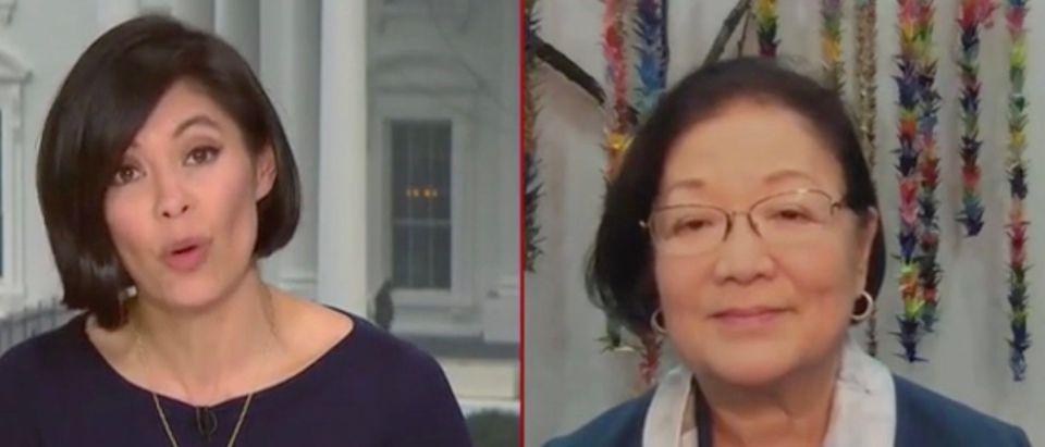 Alex Wagner and Sen. Mazie Hirono (Screenshot/MSNBC)