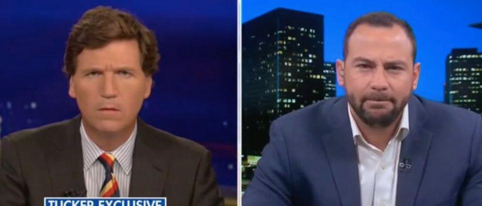 Tucker Carlson interviews former DEA agent Mark Ibrahim. Screenshot/Fox News