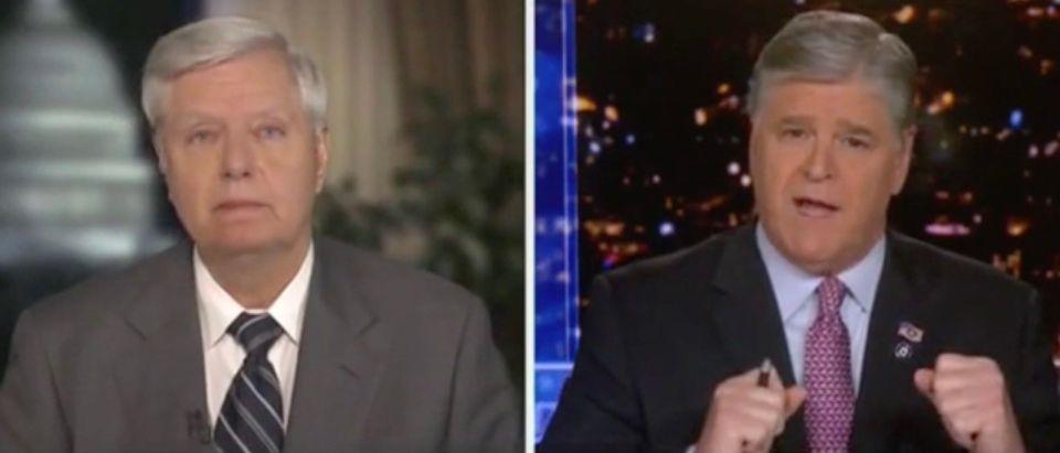 Sen. Lindsey Graham and Sean Hannity (Screenshot/Fox News)
